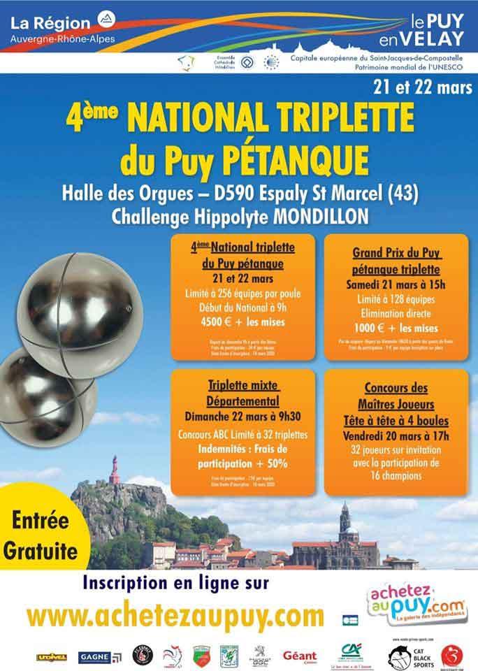 Calendrier Petanque Drome 2021 National